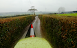 A.d.s agricultural contractors  with Hedge cutter at Muddiford