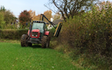 Maesllan with Hedge cutter at United Kingdom