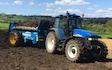 Clark farms  with Manure/waste spreader at Hangram Lane