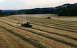 Tovey agri contracting  with Large square baler at West Harptree