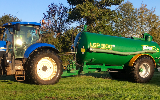 Zac bessell agricultural services with Slurry spreader/injector at United Kingdom