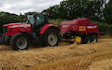Jamie thomson with Large square baler at Hemyock