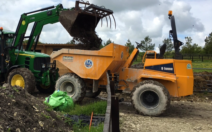 Aeh services with Dumper at Cholsey