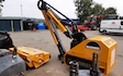 Clarke farming and contracting  with Hedge cutter at United Kingdom