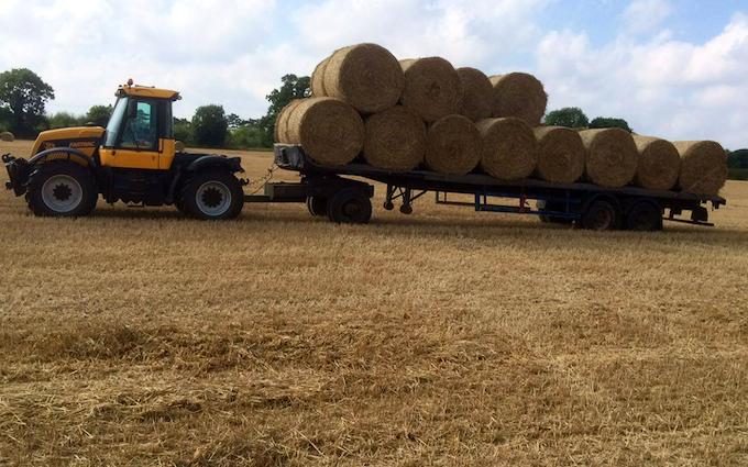 B j goose digger hire ltd  with Flat trailer at United Kingdom