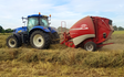 N stoker agriculture with Round baler at Monk Fryston