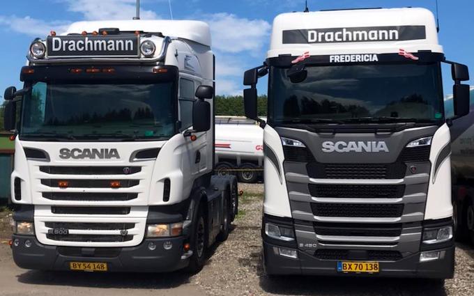 Drachmann transport aps med Lastbil ved Fredericia