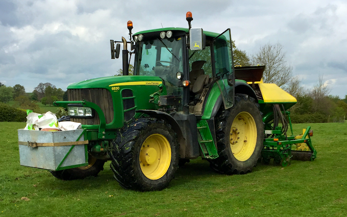 Tongs farm services  with Drill at Woodchurch
