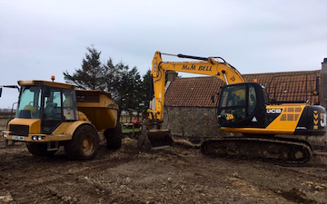 M & m bell contractors with Excavator at Memsie