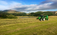Searle contracting ltd  with Round baler at Hororata