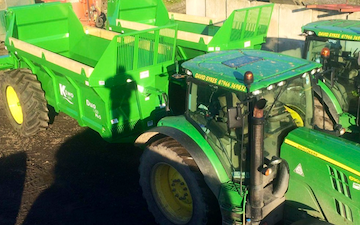 David sykes ltd with Manure/waste spreader at Greenfield