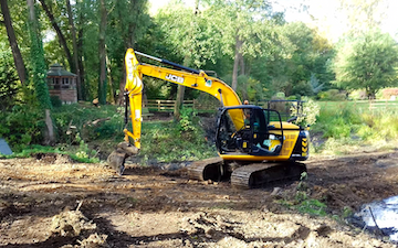 Banyards farm contracts & sales with Excavator at Dereham