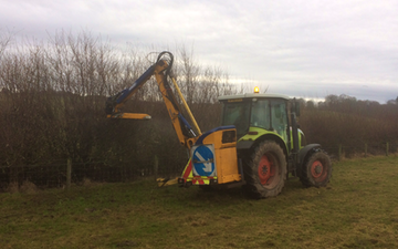 A&m maclennan ltd with Hedge cutter at Culbokie