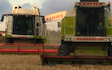 Martin hays contracting with Combine harvester at Clay Cross