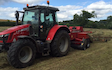East lodge farm services  with Small square baler at Fox Lane