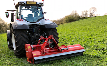David luke (contracting) with Verge/flail Mower at United Kingdom