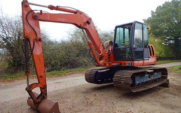 K.smith field services  with Excavator at Finchampstead
