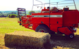 G w raven  with Large square baler at Weedon Lois