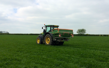 Girsby farm services ltd with Fertiliser application at Girsby Lane