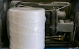 Flemings - twine and packaging manufacturers with Large square baler at Bridge Road