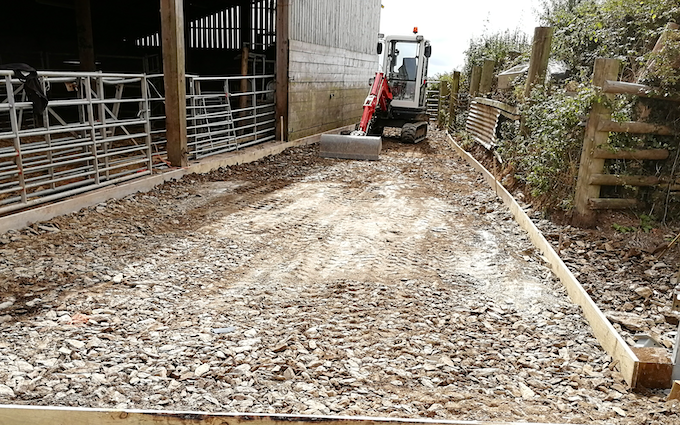 A.d.s agricultural contractors  with Gritting and snow clearance at Muddiford