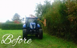 Nick menjou agricultural services with Hedge cutter at Calcot Lane