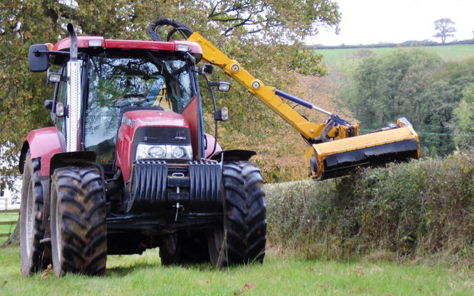 R.n.g. morgan & son with Hedge cutter at Devauden