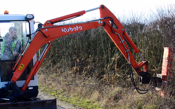 Suddenstrike ltd with Hedge cutter at United Kingdom