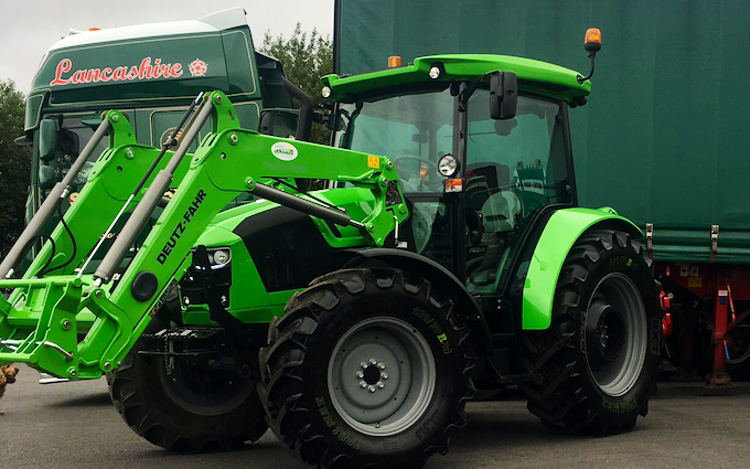 Holden fencing  with Tractor-mounted sprayer at Ramsbottom