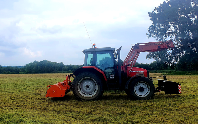 Acc contracting with Verge/flail Mower at Bramley