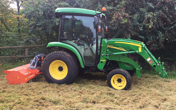 Kikunoi ltd paddock and estate services with Verge/flail Mower at Cromar Way