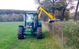 A & sj charlesworth farmers and contractors with Hedge cutter at Loxley