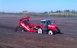 Hjortlund landbrug & maskinstation med Stenstrenglægger ved Grindsted