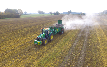 A. farrell contracting with Manure/waste spreader at United Kingdom